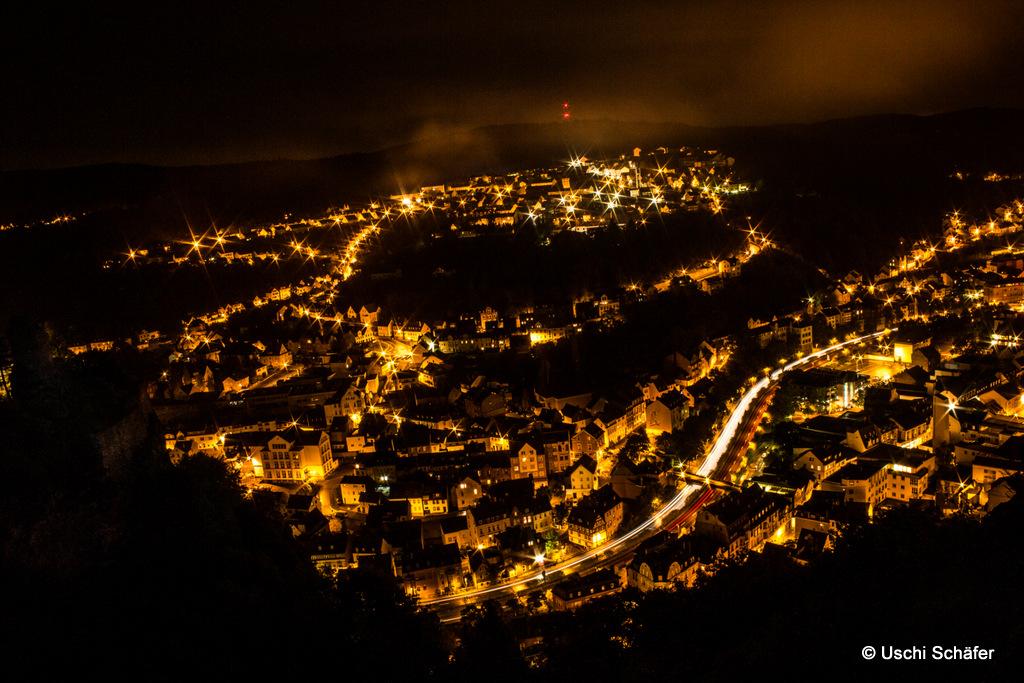 Idar-Oberstein bei Nacht