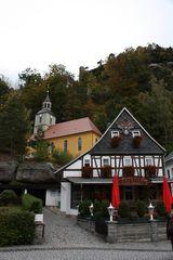 idyllische Häuser im Kurort Oibyn