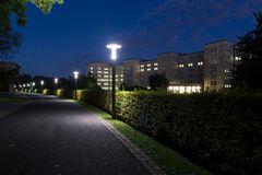 IG-Farben-Haus zur Nacht