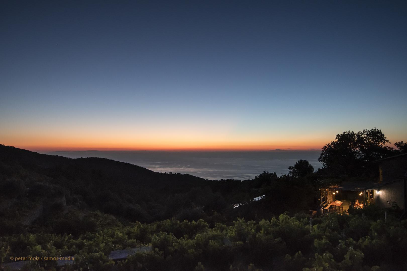 Ikaria/Griechenland - Evening sky over the north coast / Abendhimmel über der Nordküste