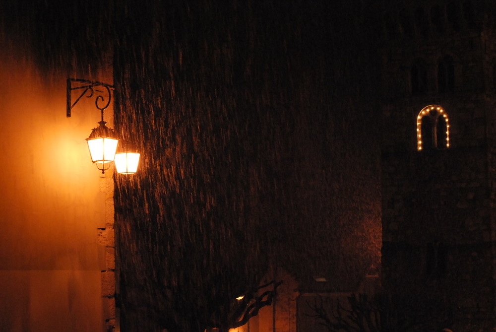 Il a neigé hier soir !