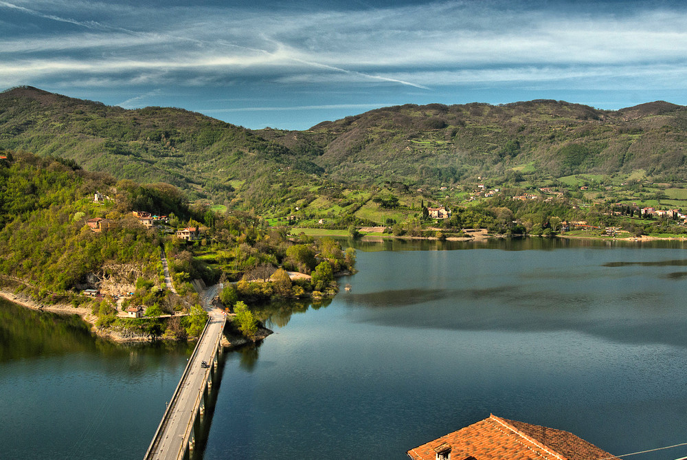 Il lago Turano nella Sabina