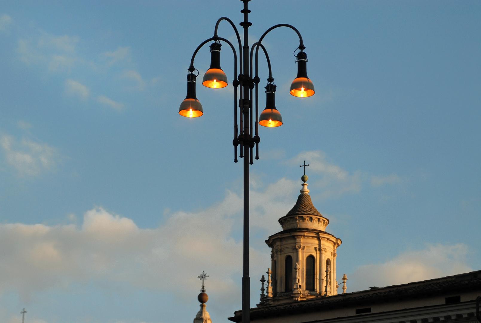 Il lampione e le chiese
