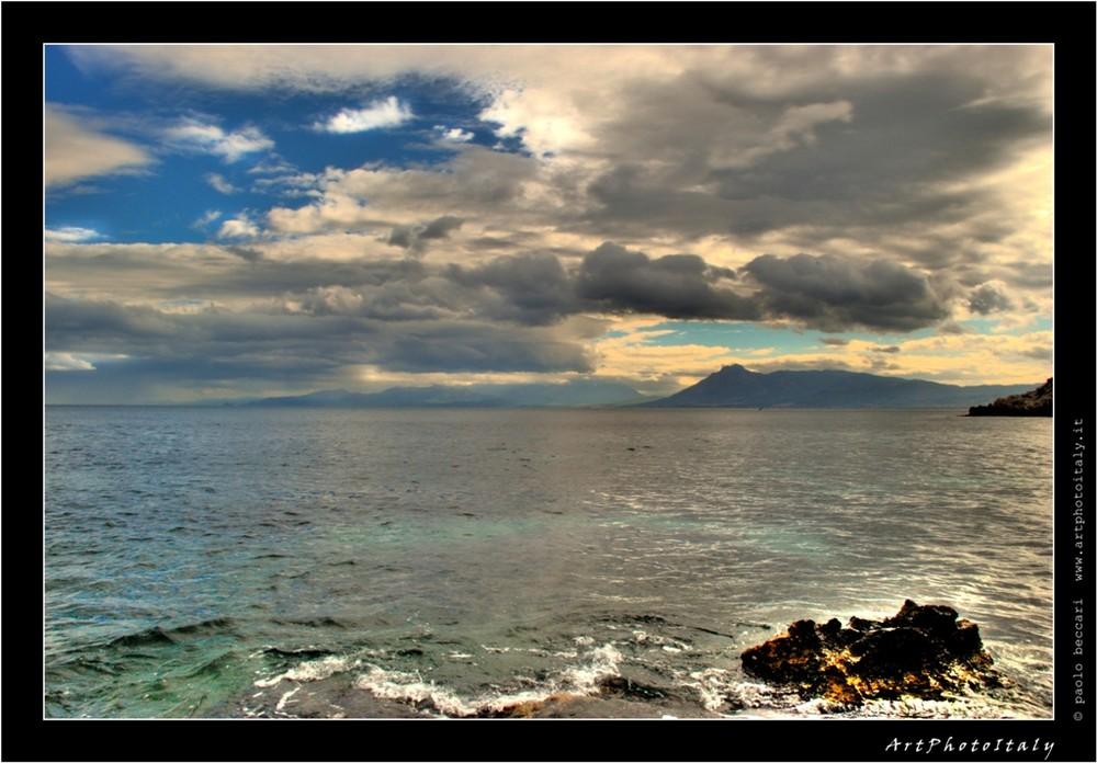 Il mare, una mattina d'inverno.....