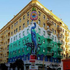 Il murales Mangia Smog di Roma