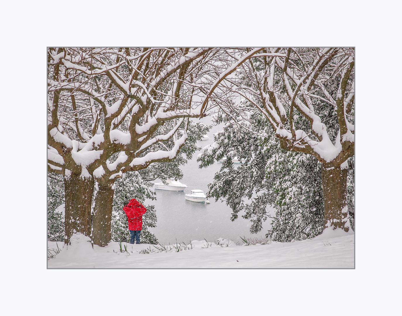 Il neige à Hendaye
