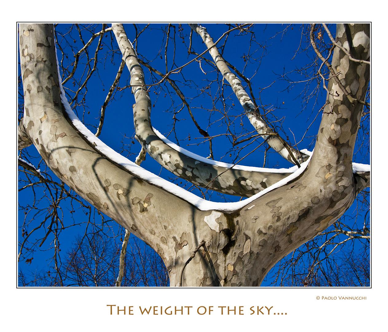Il peso del cielo ....