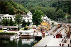 Il piccolo villaggio di Flaam.