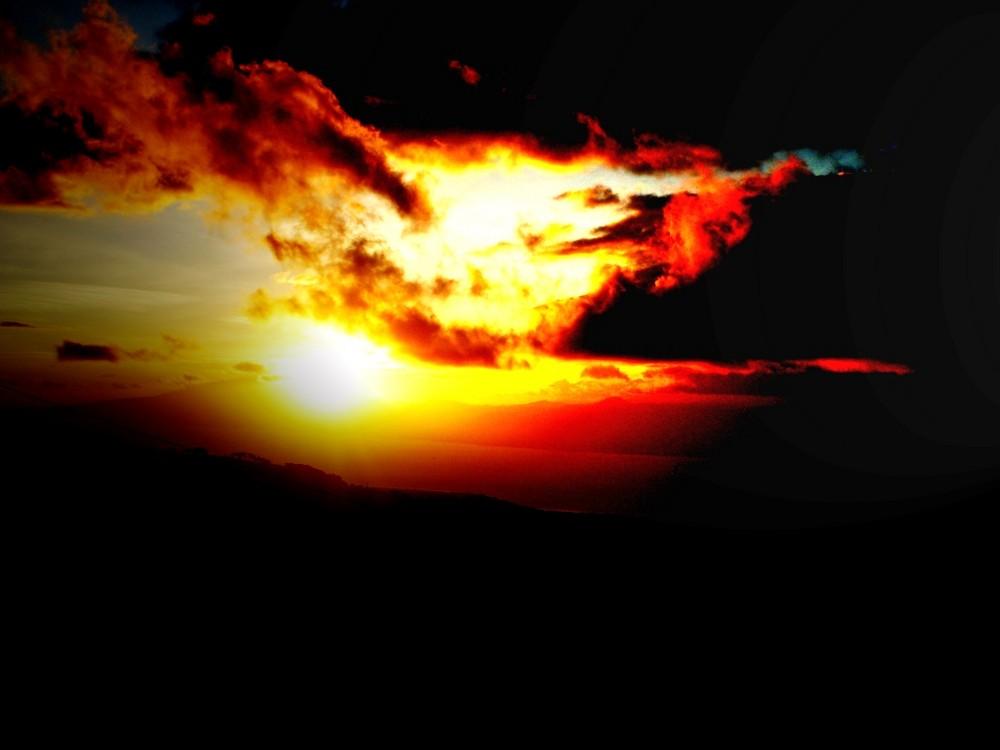 il piu bel tramonto visto da reggio calabria