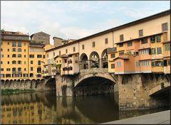 Il Ponte Vecchio sull`Arno