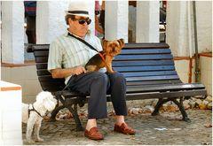 Il vecchio siggnore e loro cani