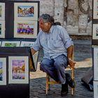 Il venditore di stampe a Trinità dei Monti
