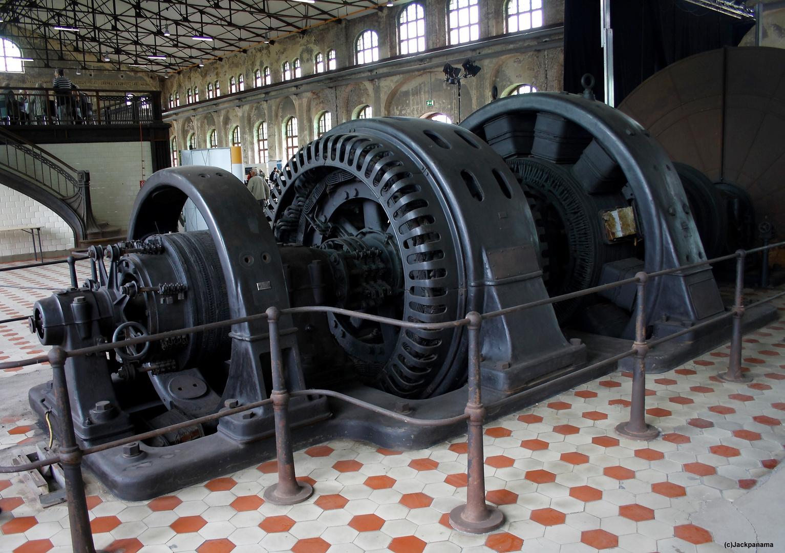 Ilgner-Umformer, Baujahr 1908 in der Maschinenhalle Gladbeck-Zweckel