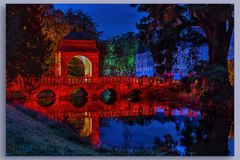 Illumina Schloss Dyck Hochzeitsbrücke