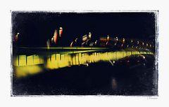 - illuminated bridge -