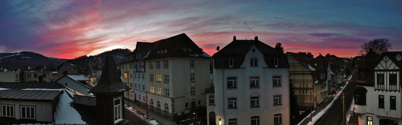 Ilmenaus Sonnenuntergang