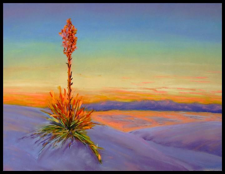 Ilo Nas Landschaft mit Pastellkreiden gemalt
