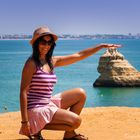 Ilusions on the Algarve beach