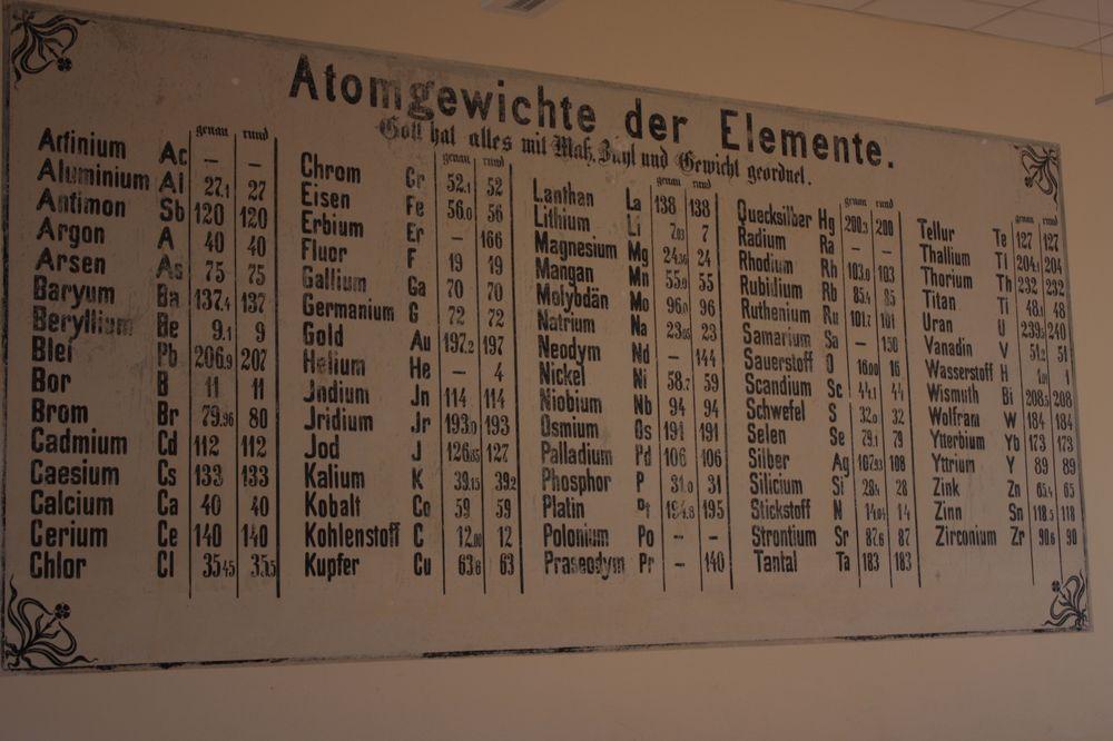 Im alten Chemieraum des Gymnasiums