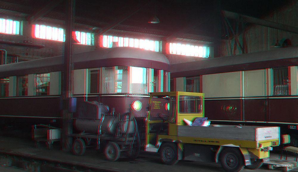 Im Ascherslebener Lokschuppen steht dieser Dieseltriebwagen der Bauart Stettin.