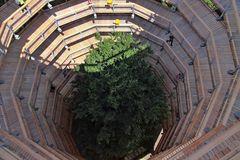 Im Aussichtsturm mit Baum