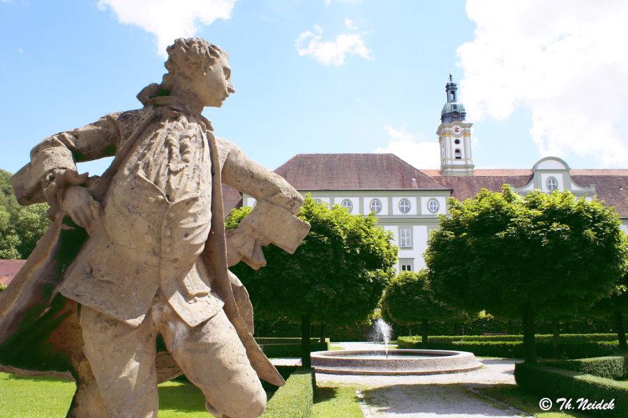 Im Barockgarten von Fürstenfeld, Fürstenfeldbruck, Bayern