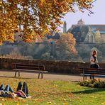 Im Burggarten von Rothenburg o.d.T.