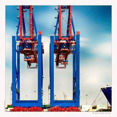 Im Container Hafen