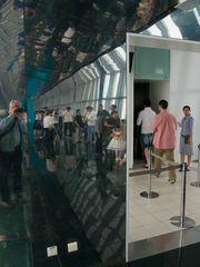im Flaschenöffner von Shanghai in 414m Höhe