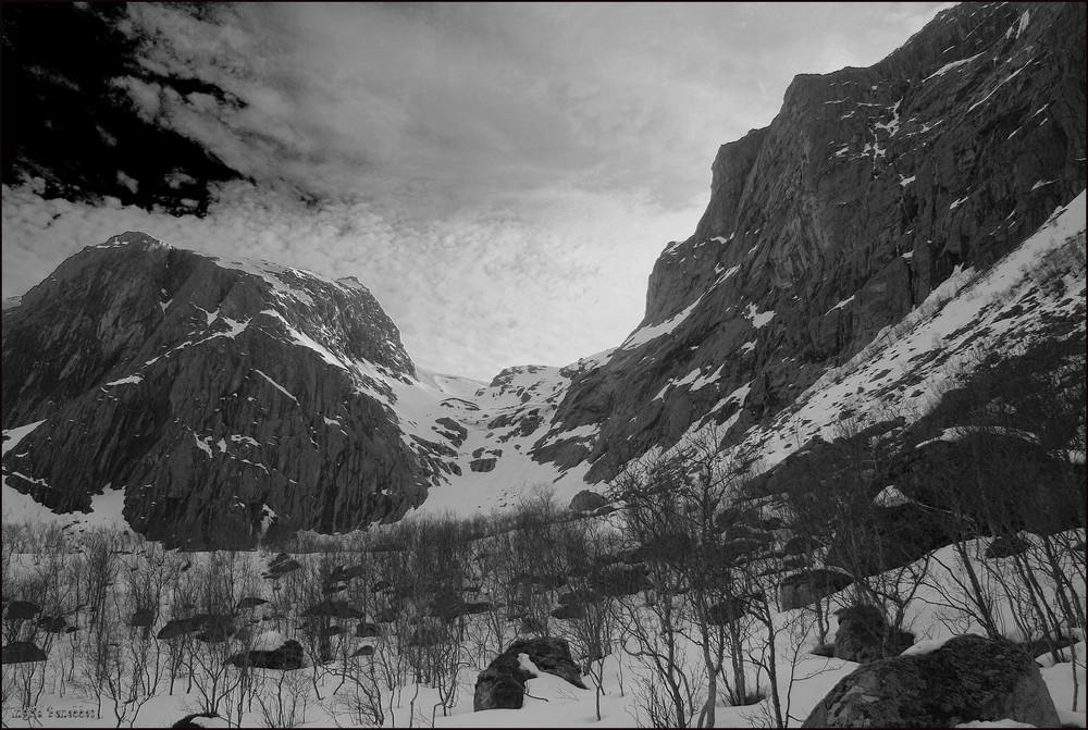 Im Gebirge auf Kvaløya