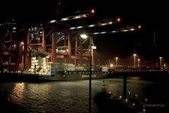 im Hafen....
