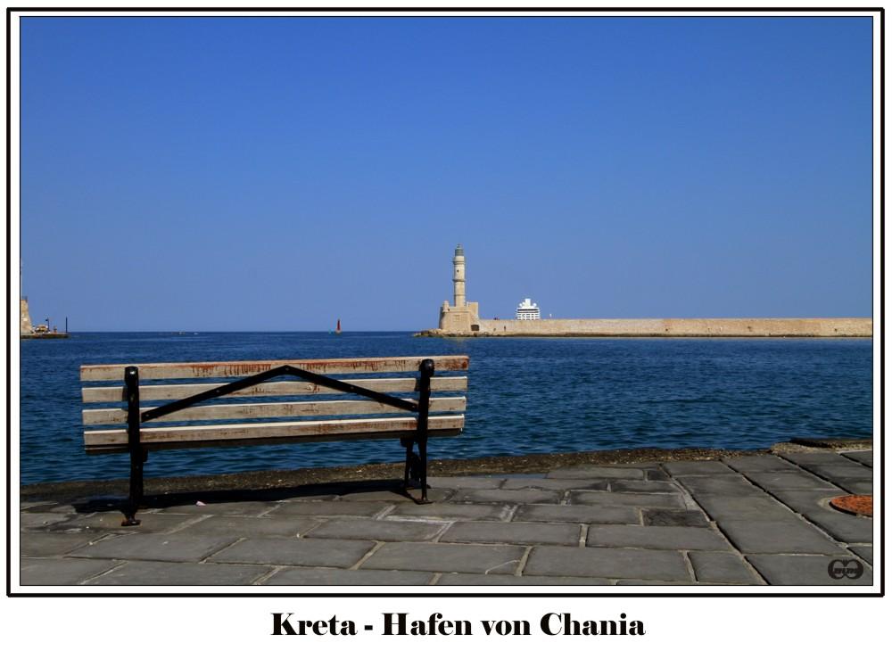 Im Hafen von Chania