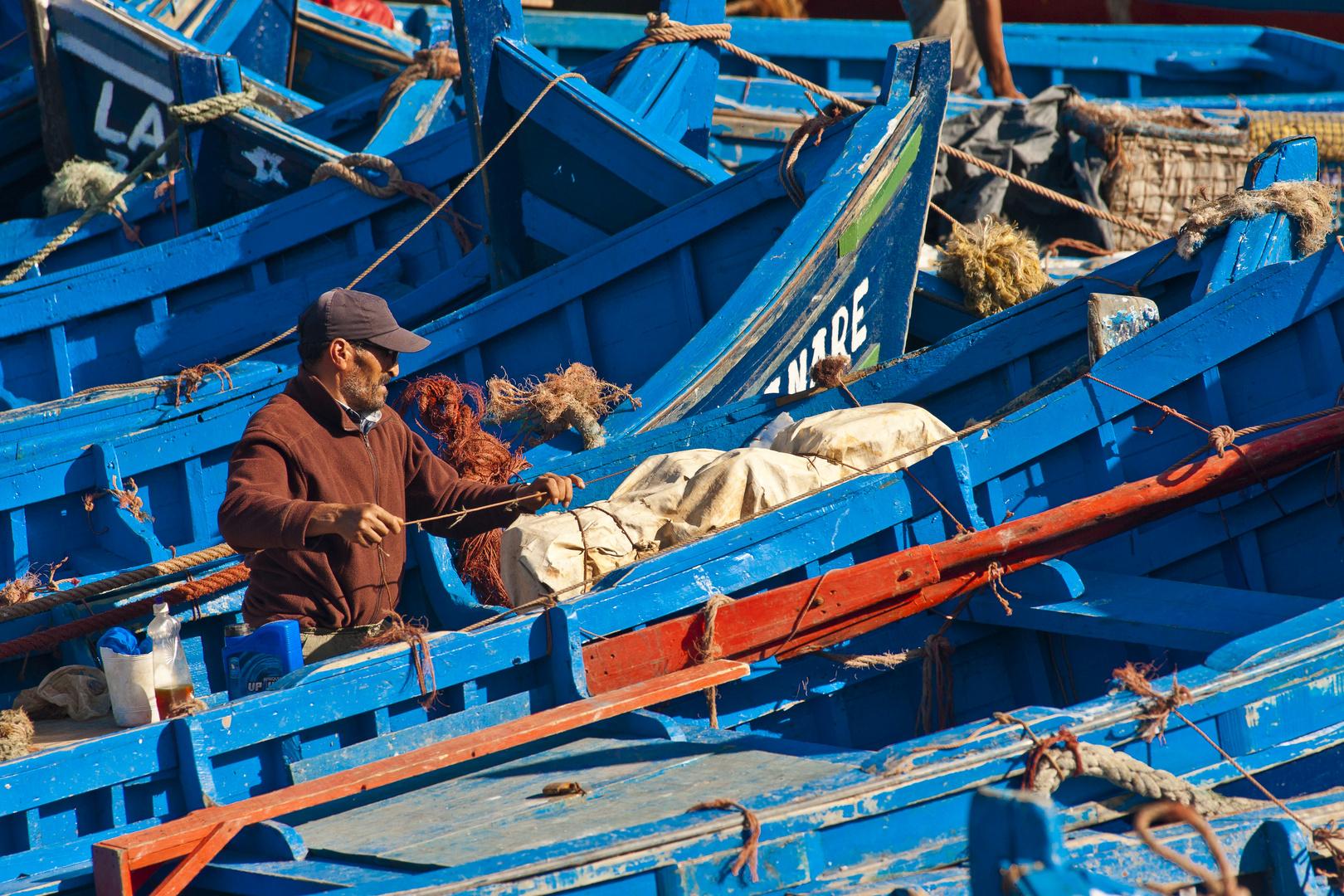 Im Hafen von Essaouira, Marokko 03.2017