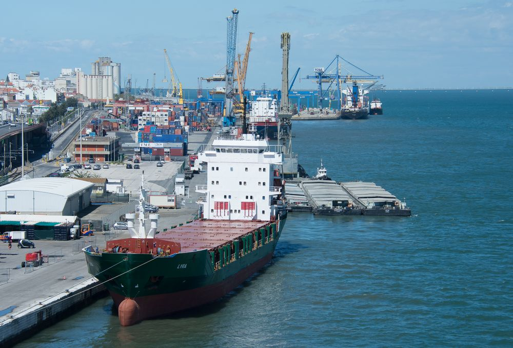 Im Hafen von Lissabon