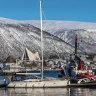 Im Hafen von TROMSÖ, Eismeerkathedrale