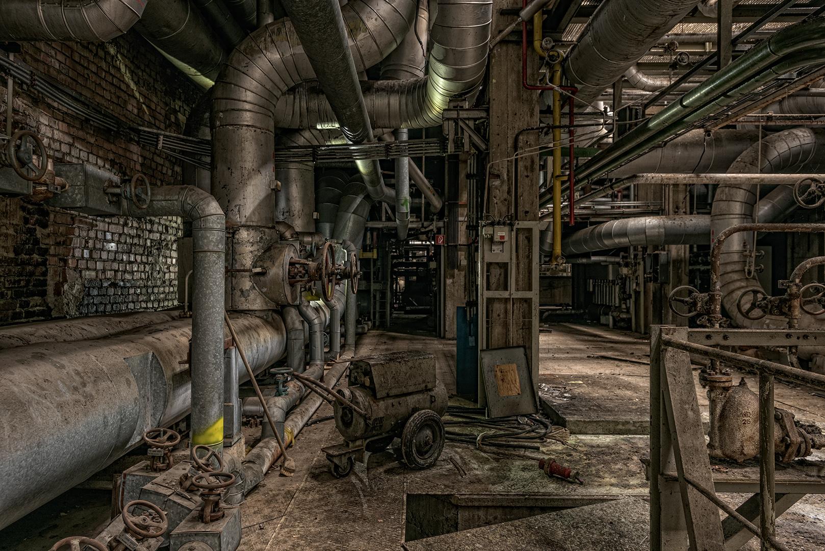 im Heizkraftwerk