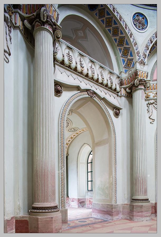 Im Inneren der Moschee
