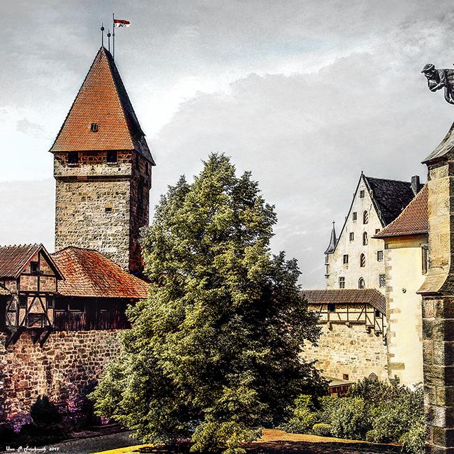 Im Inneren der Veste Coburg , Oberfranken