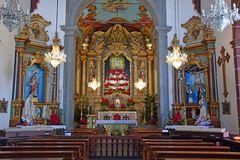 Im Innern der Wallfahrtskirche von Monte