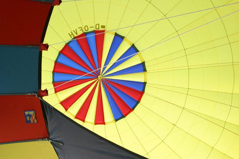 Im Innern des Ballons