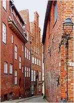 Im Kolk - eine kleine Straße in der Lübecker Altstadt