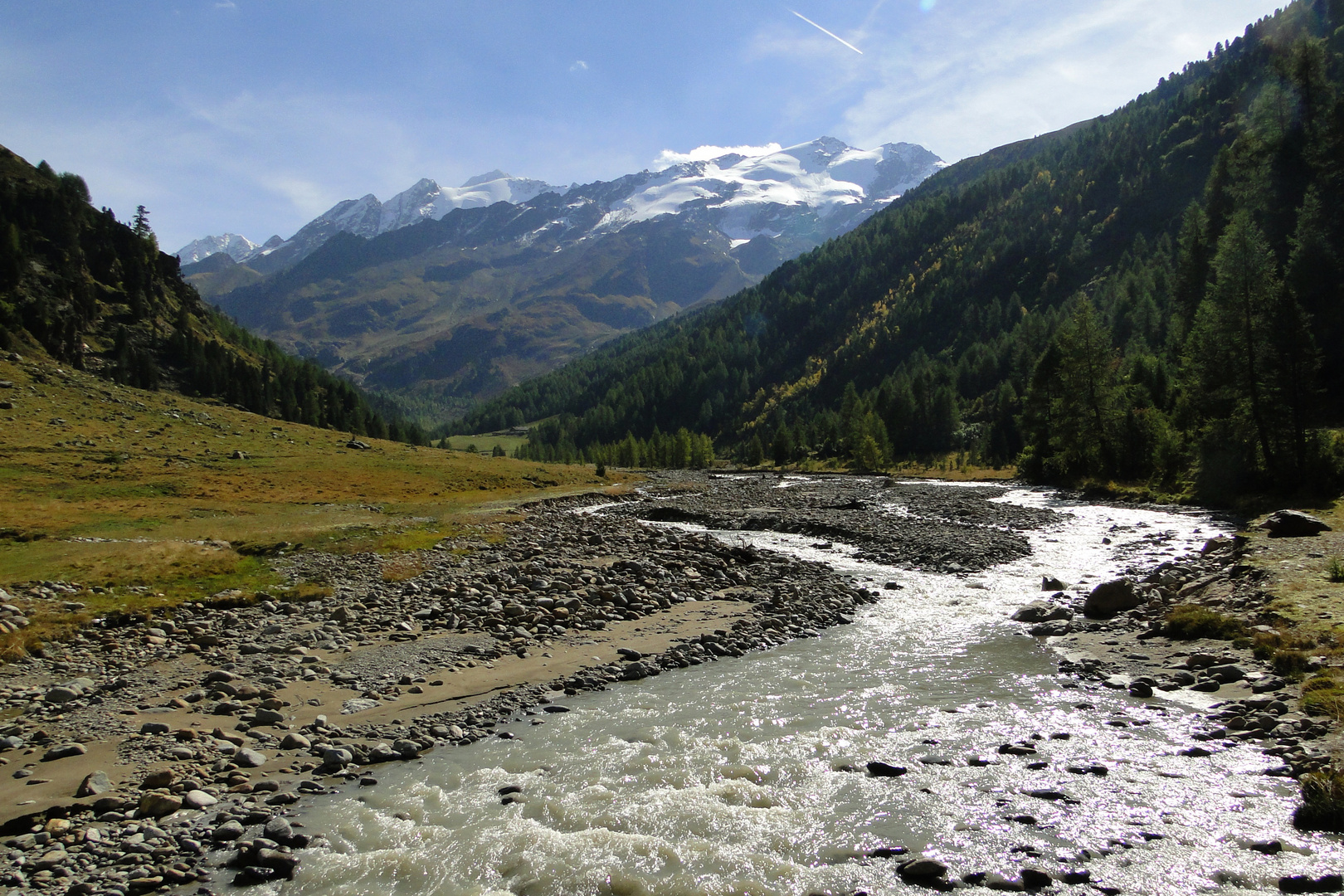 Im Langtauferer Tal - Blick zur Weißkugel
