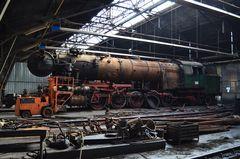 Im Lokschuppen des Depots Sofia der BDZ
