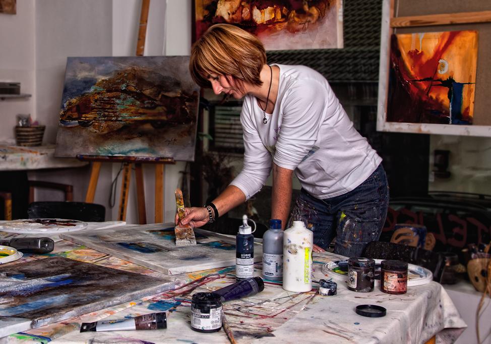 Im Maleratelier