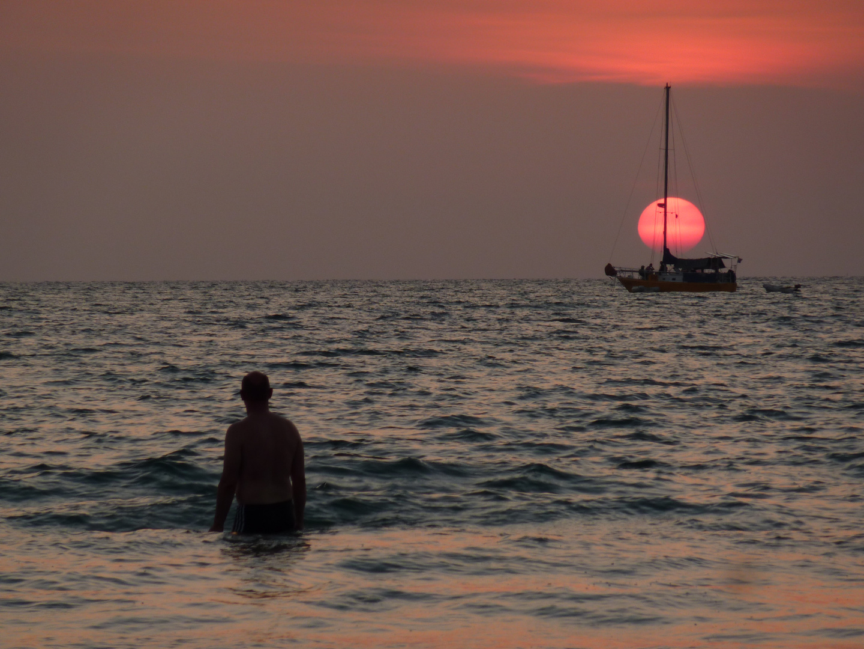 Im Meer versinken