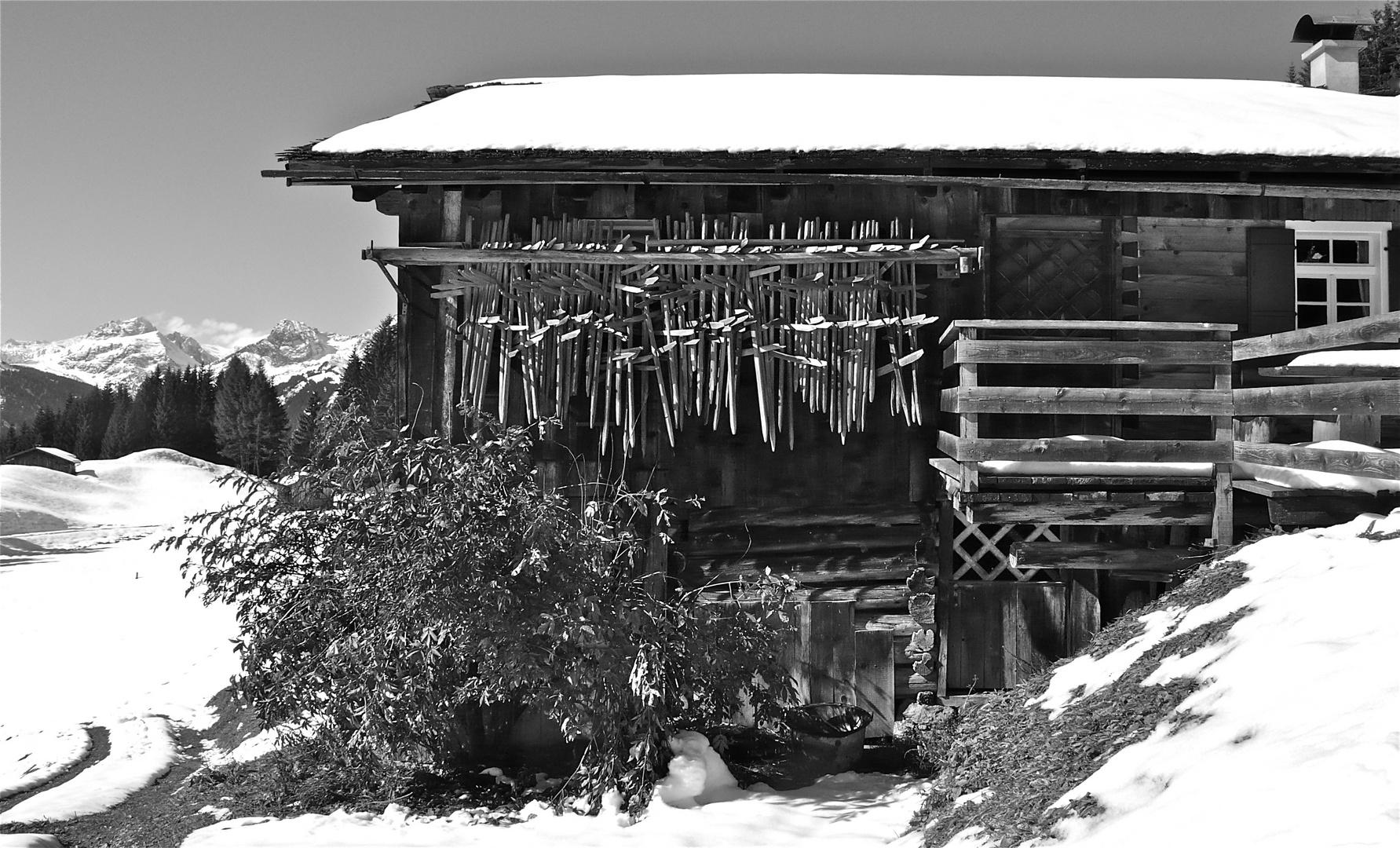 Im Montafon oberhalb Bartholomäberg . . .