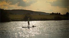 I'm paddling