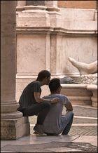 Im Palazzo Nuovo, zu Marforios Füßen