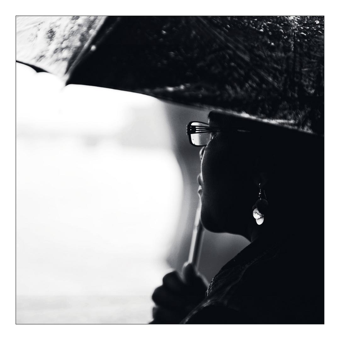 ...im Regen...