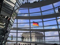 Im Reichstag mal aus einer anderen Perspektive